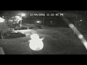 Cameras caught the assault on Frosty by a vandal