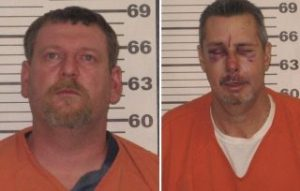 Barker (left) and Hagen are charged with stabbing a fellow Klan member