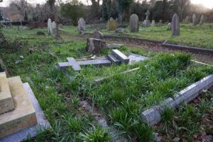 An 8-year-old boy died after an old tombstone fell on him